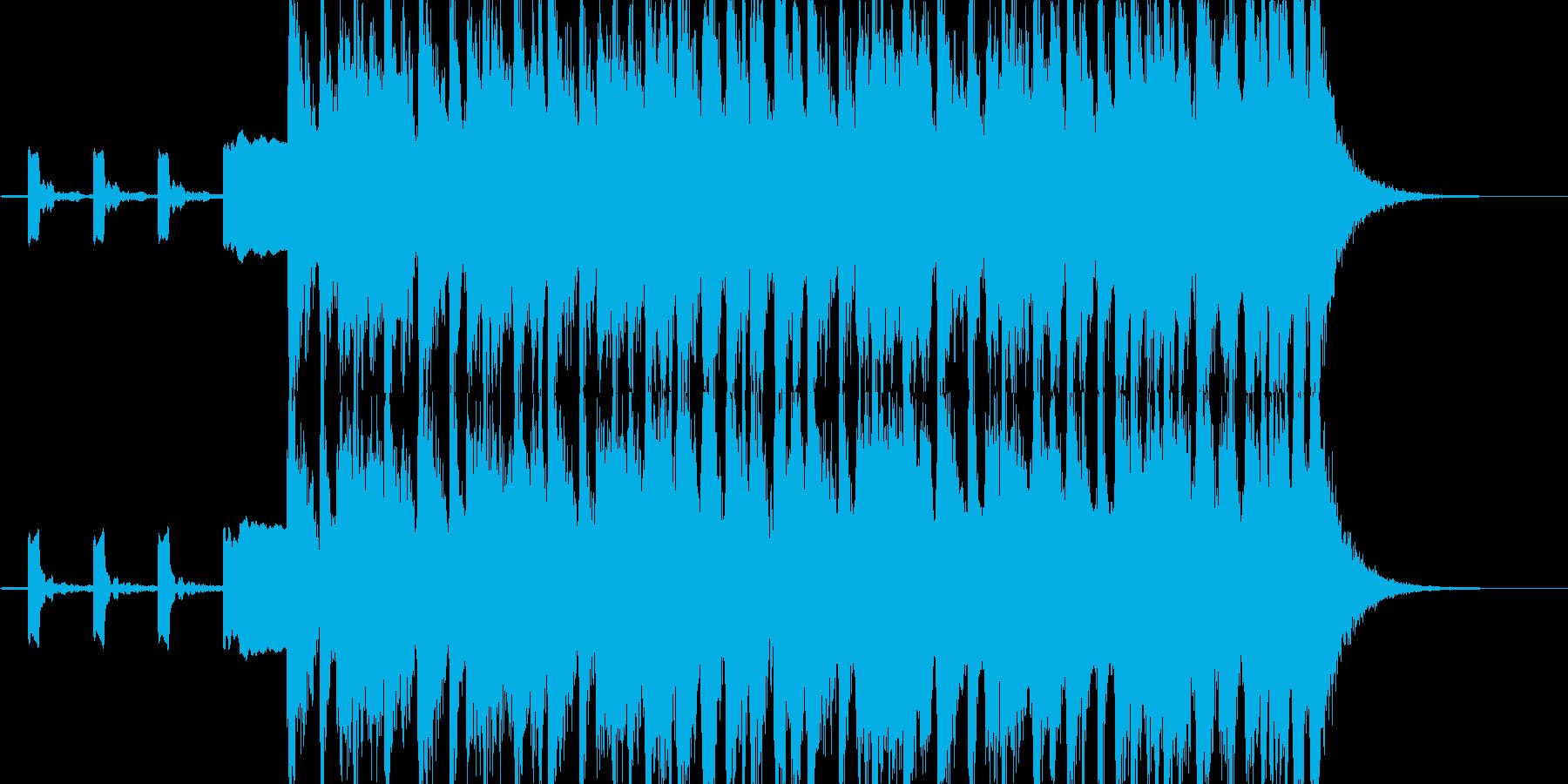 News音楽のOP、ピコピコ系SQの再生済みの波形