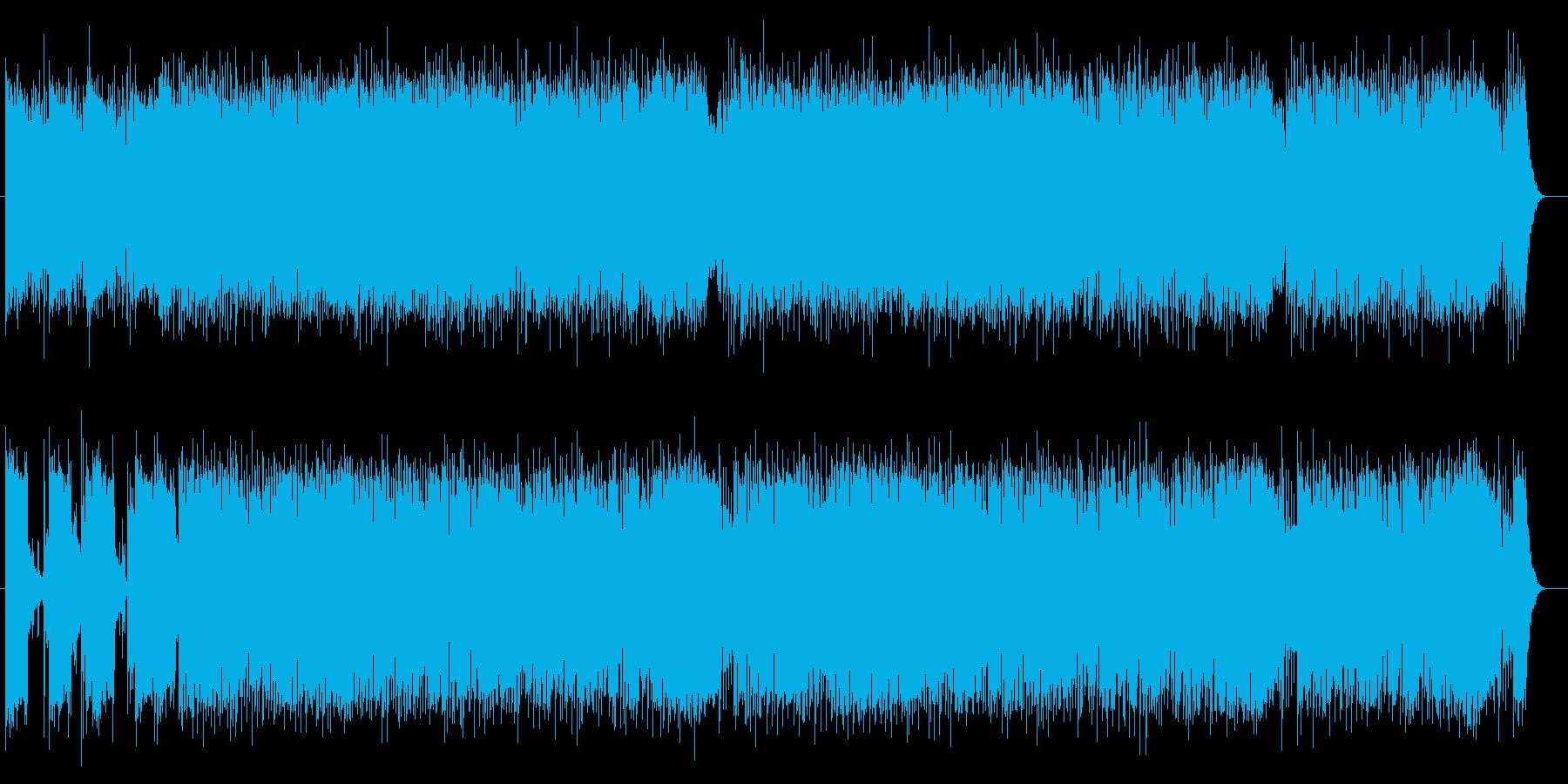 疾走感あるメロディアスなエレキサウンドの再生済みの波形