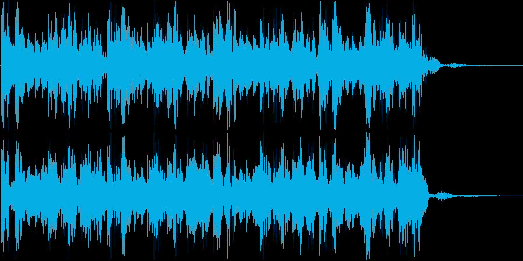 リズミックに下降するSEジングルの再生済みの波形