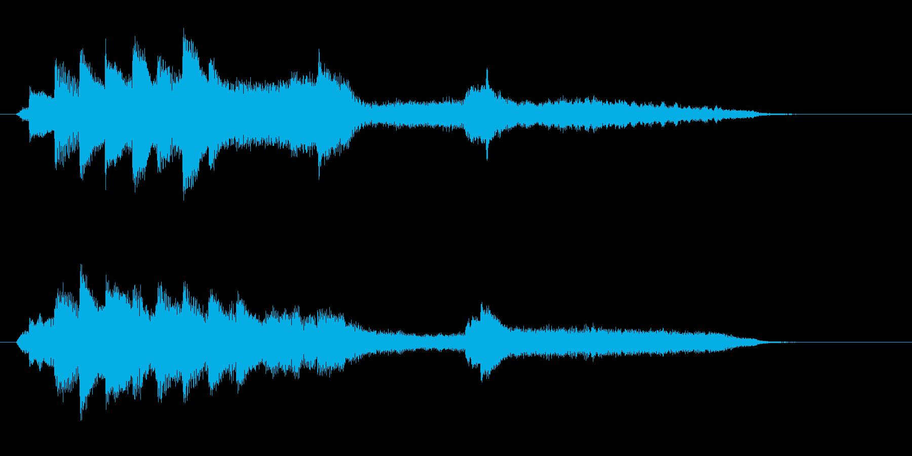 和風 切ないピアノとストリングスジングルの再生済みの波形