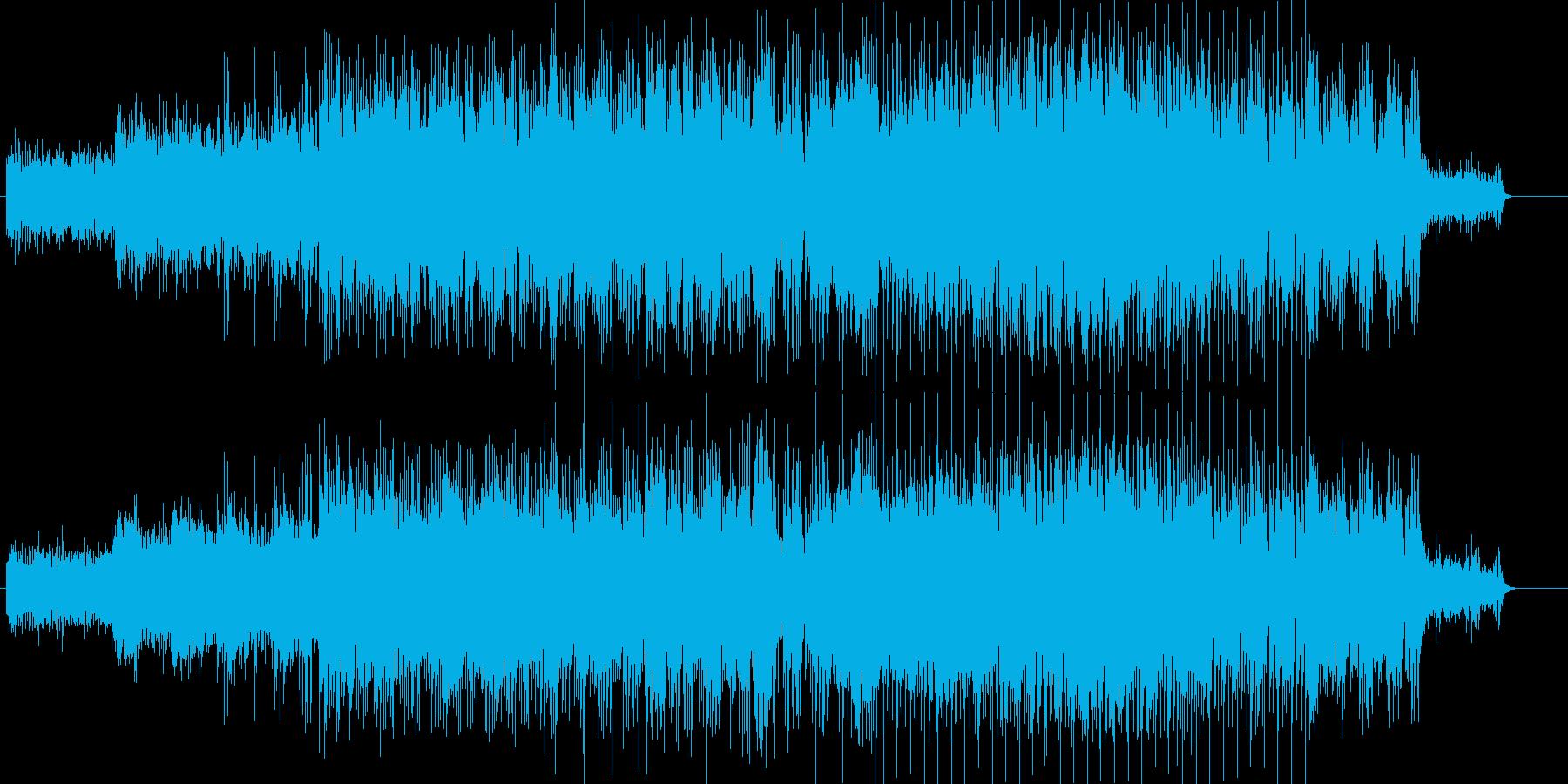 緊張感を高める効果的なアンビエントの再生済みの波形