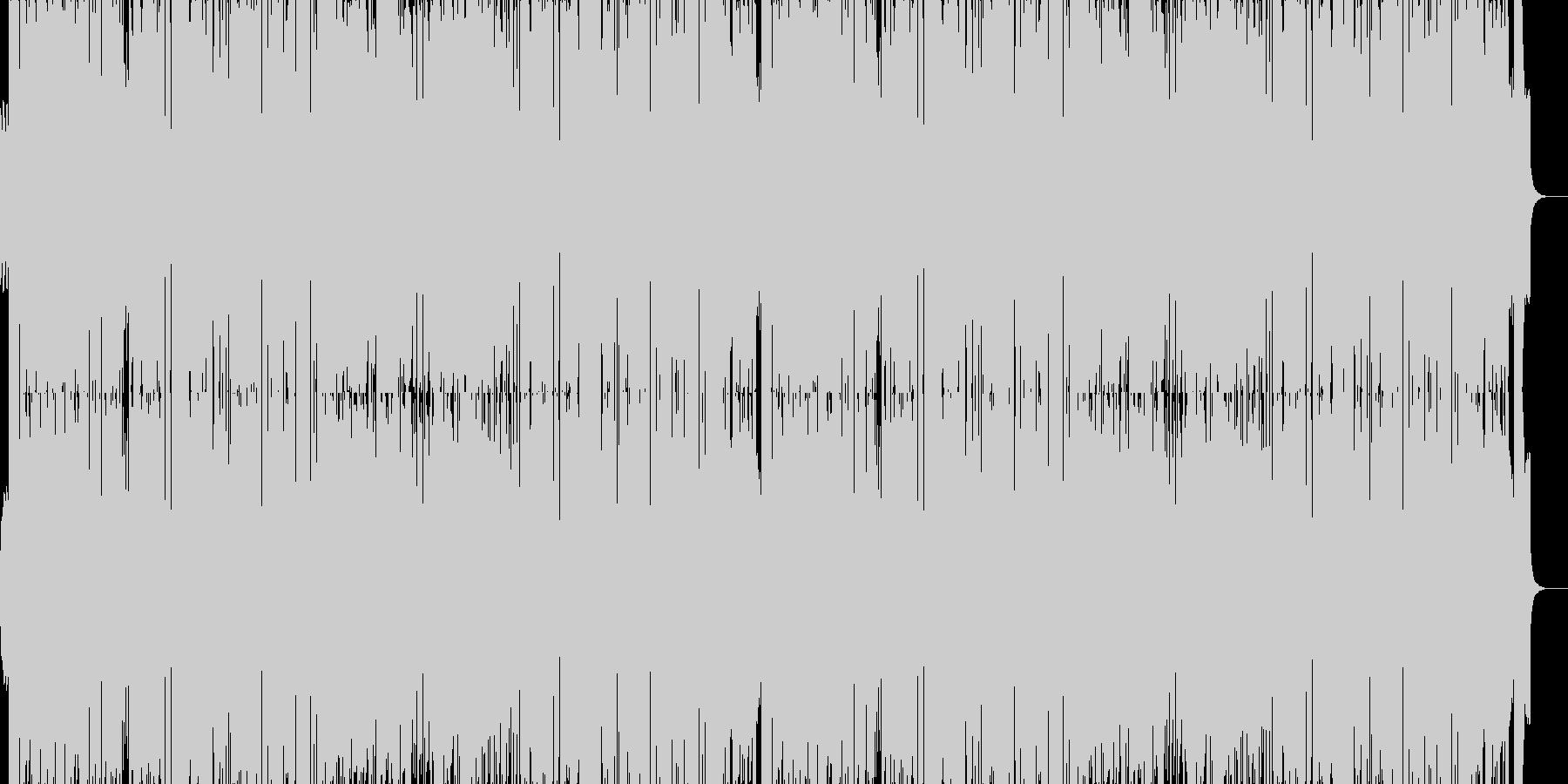 夜の高速のようなベースのきいたBGMの未再生の波形