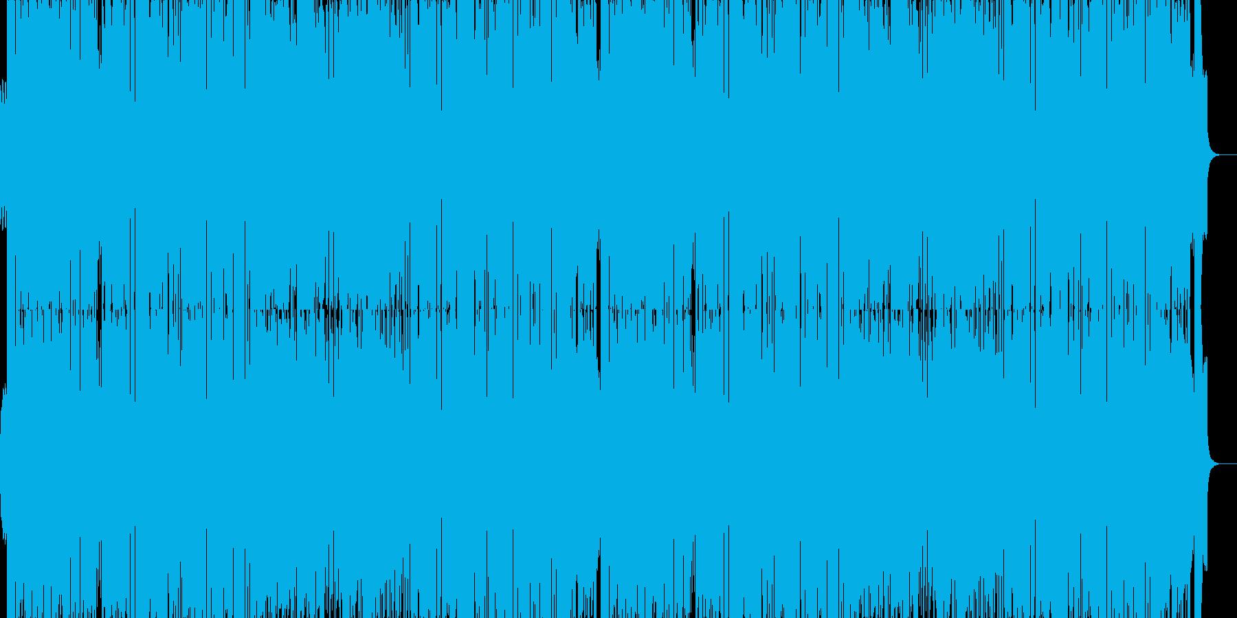 夜の高速のようなベースのきいたBGMの再生済みの波形