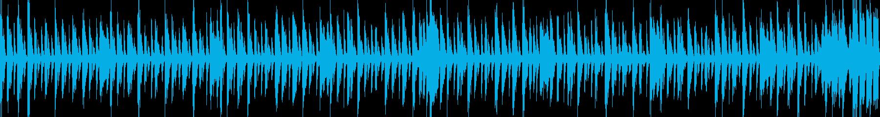 怪しい曲の再生済みの波形