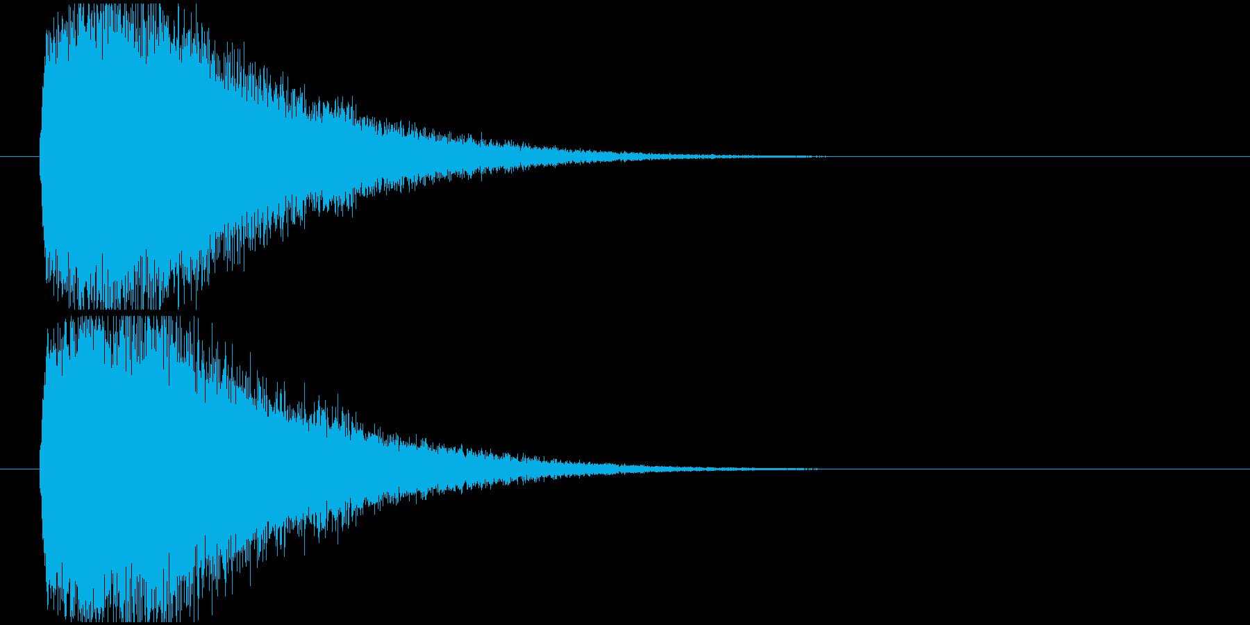 インパクトSynth系の再生済みの波形