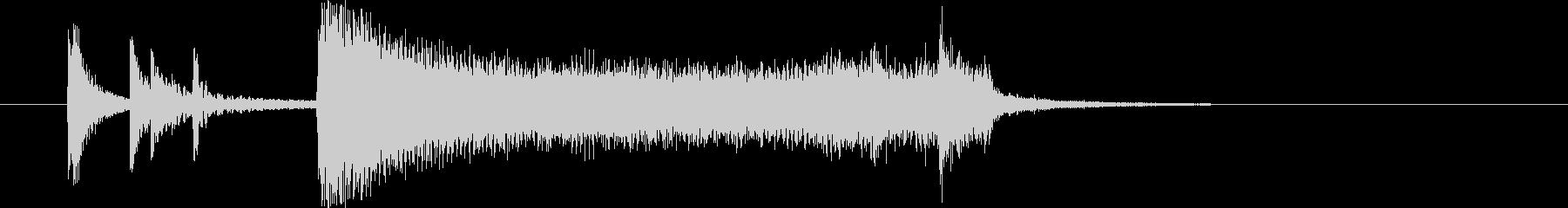 ビッグバンド生演奏的定番アタックBb69の未再生の波形