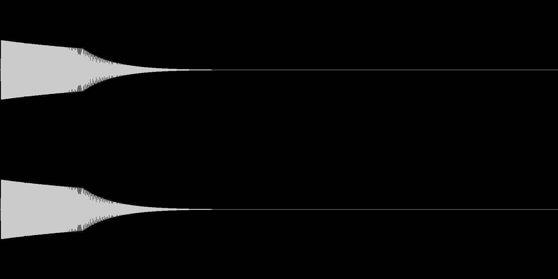 ピヨ:パズルゲームなどに合う効果音の未再生の波形