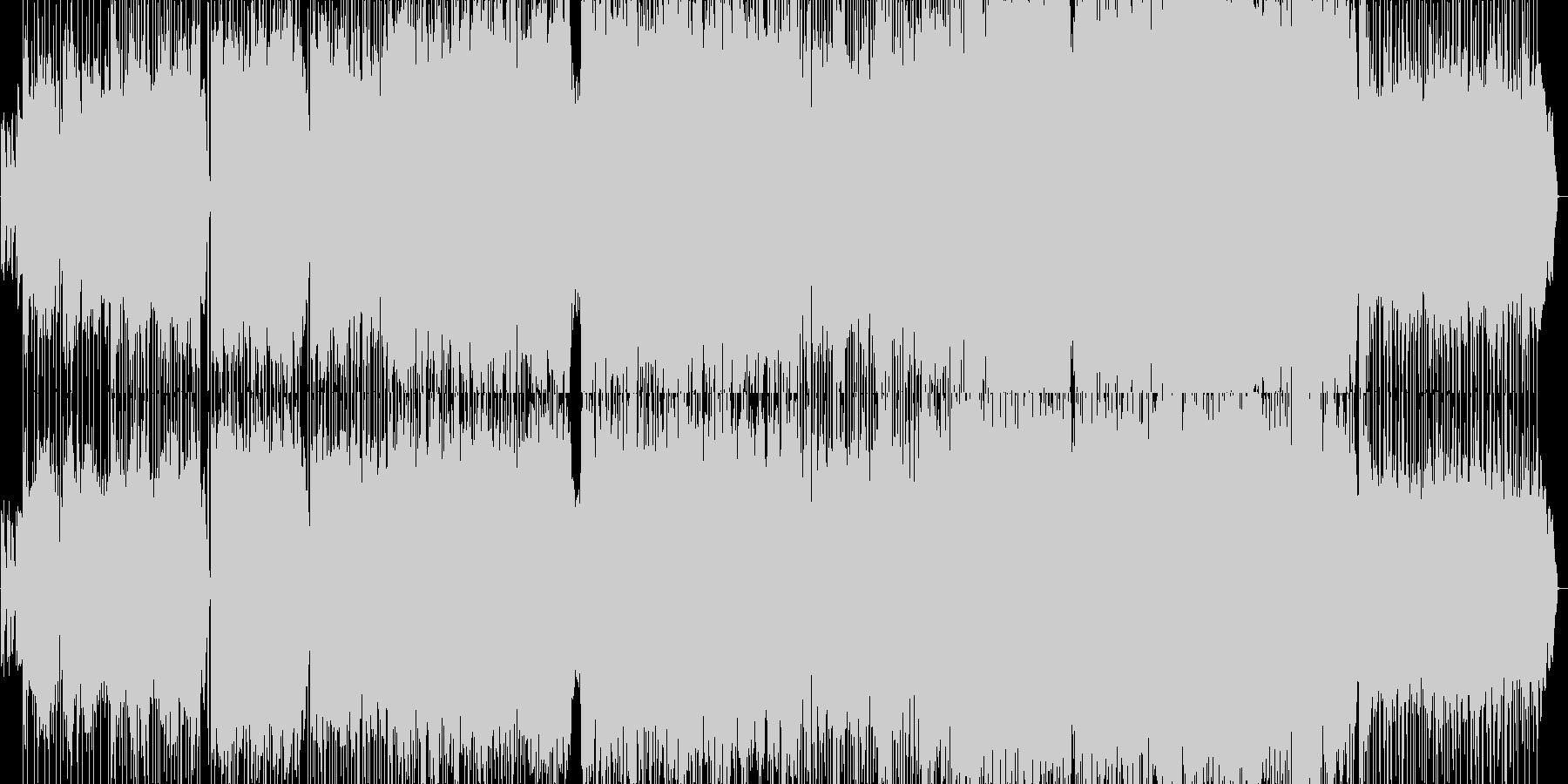 ほのぼのしたフォークな雰囲気のポップスの未再生の波形