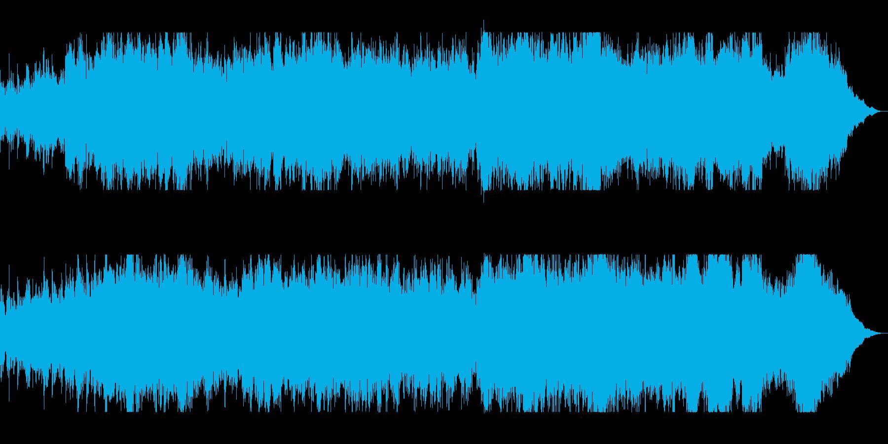 壮大オーケストラのサウンドトラックの再生済みの波形