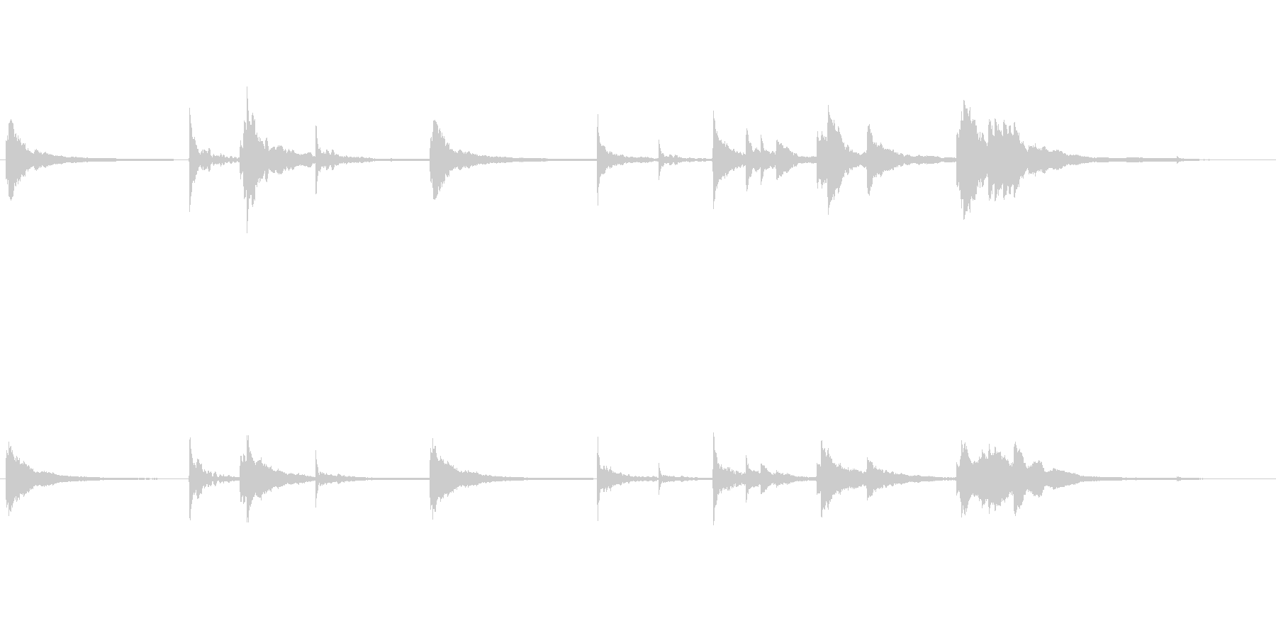 ピアノとテキスチャー系の未再生の波形