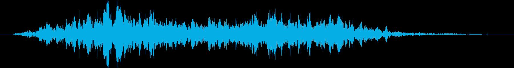 風魔法(かまいたち)の再生済みの波形