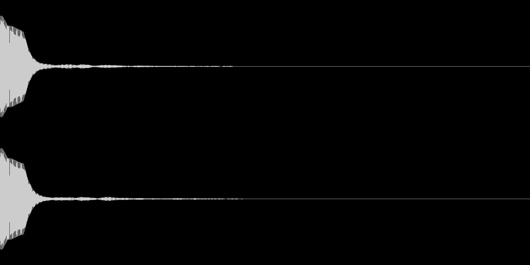 キャンセル・選択ボタン001 シンセの未再生の波形
