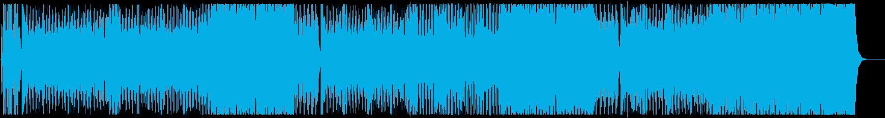 和風な雰囲気でにぎやかなメロディーの再生済みの波形