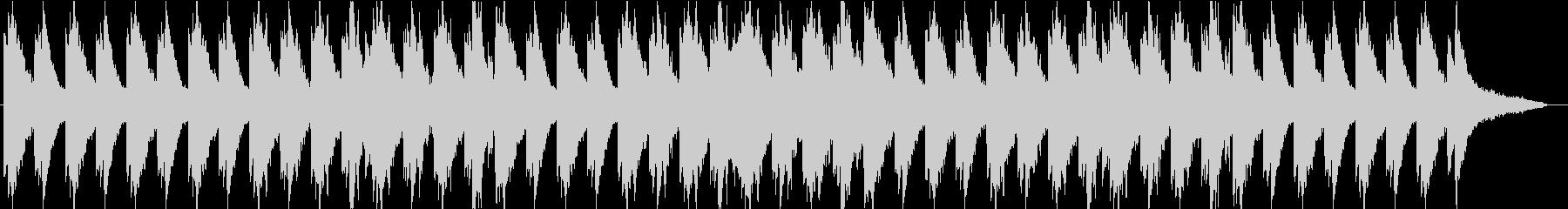 ピアノがメインの落ち着いたBGMの未再生の波形