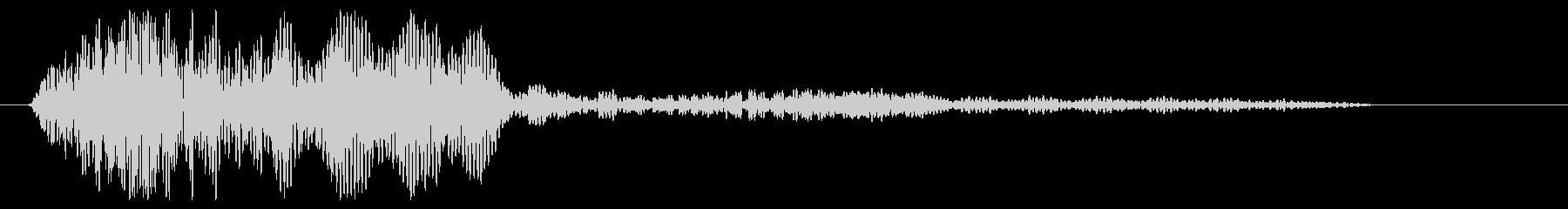 クリック音(一定音)の未再生の波形