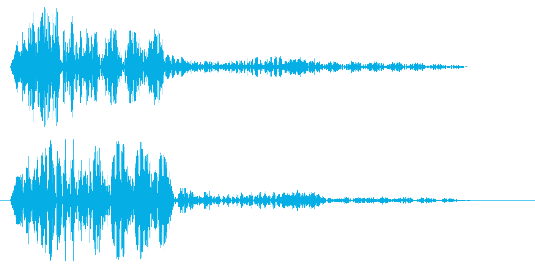 クリック音(一定音)の再生済みの波形