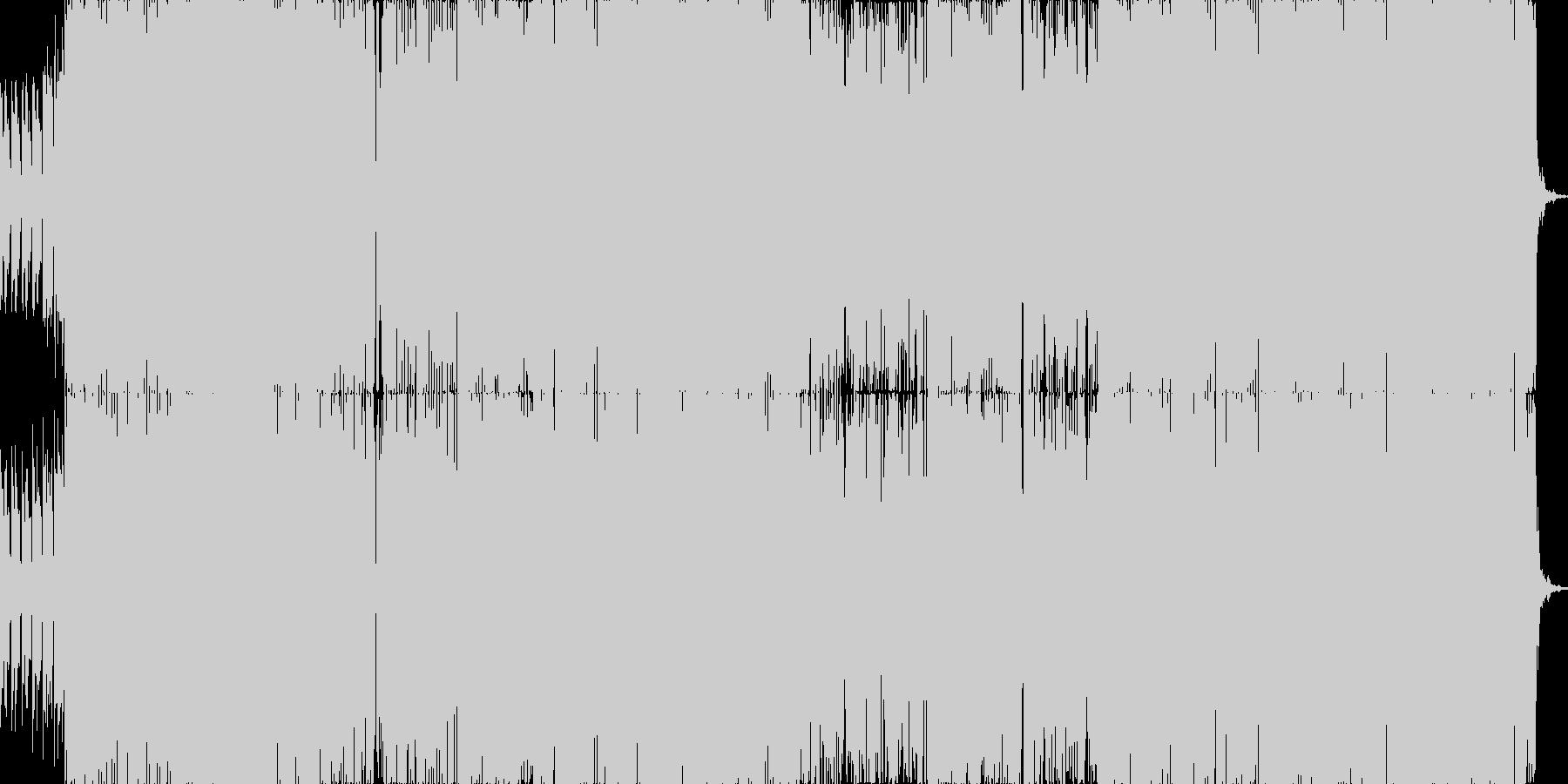 ピコピコテクノポップの未再生の波形