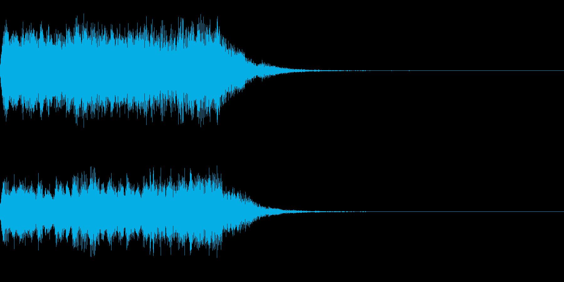オープニング等で使える優雅なジングル1の再生済みの波形