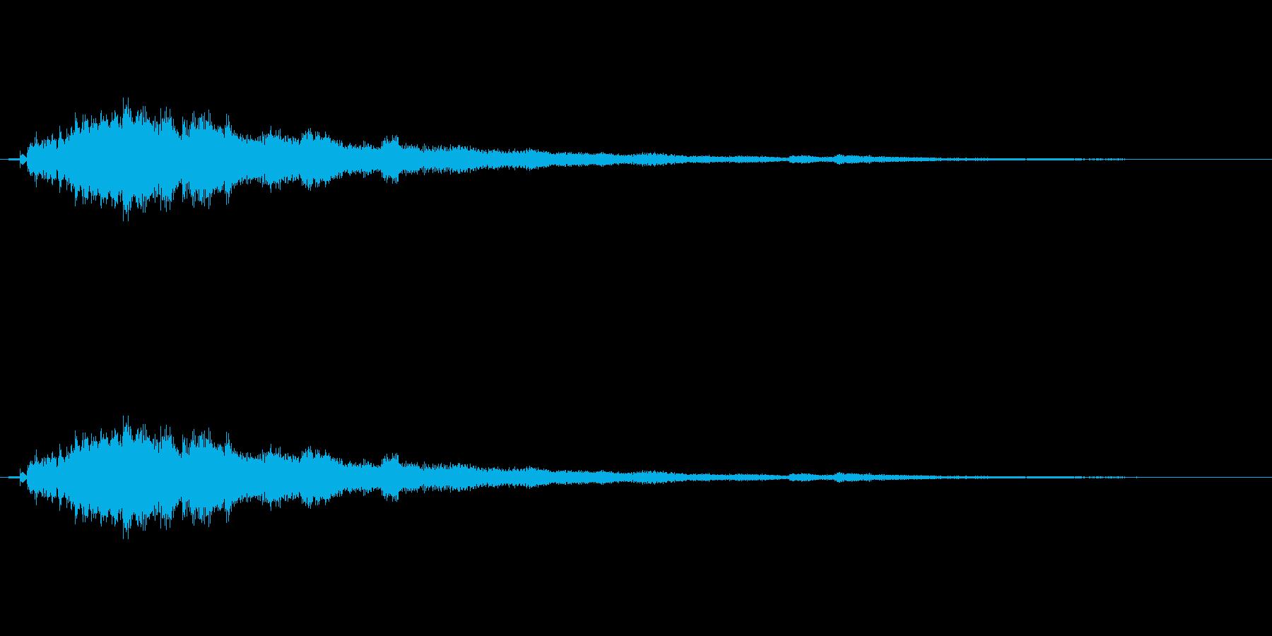 ツリーチャイムによるキラキラ音 下降の再生済みの波形