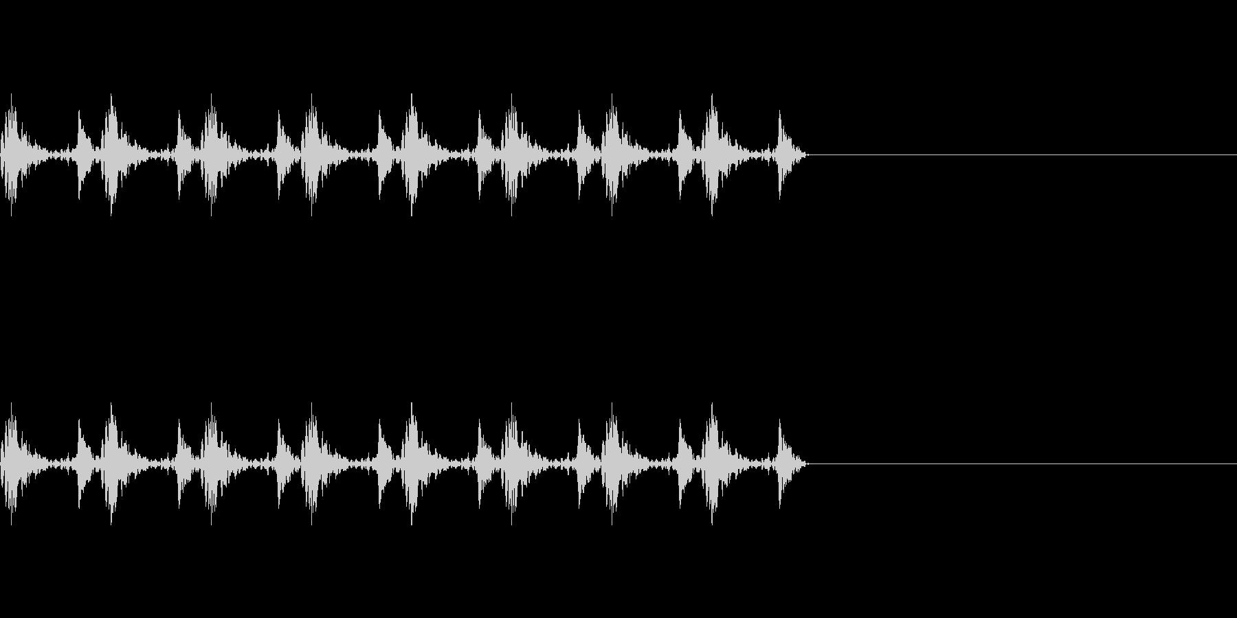 ドクドクの未再生の波形