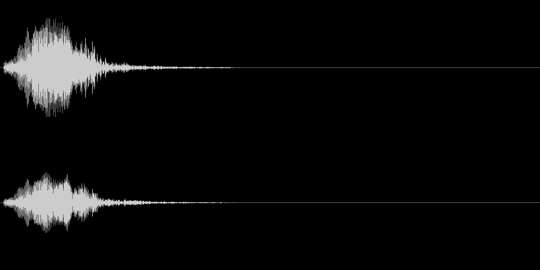 ハシブトガラスの鳴き声(夕方に鳴く)の未再生の波形