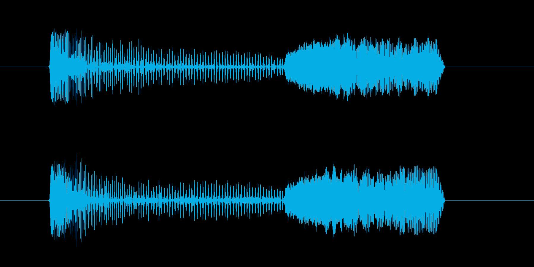 足音 コミカルなプニ プヨ プニョの再生済みの波形