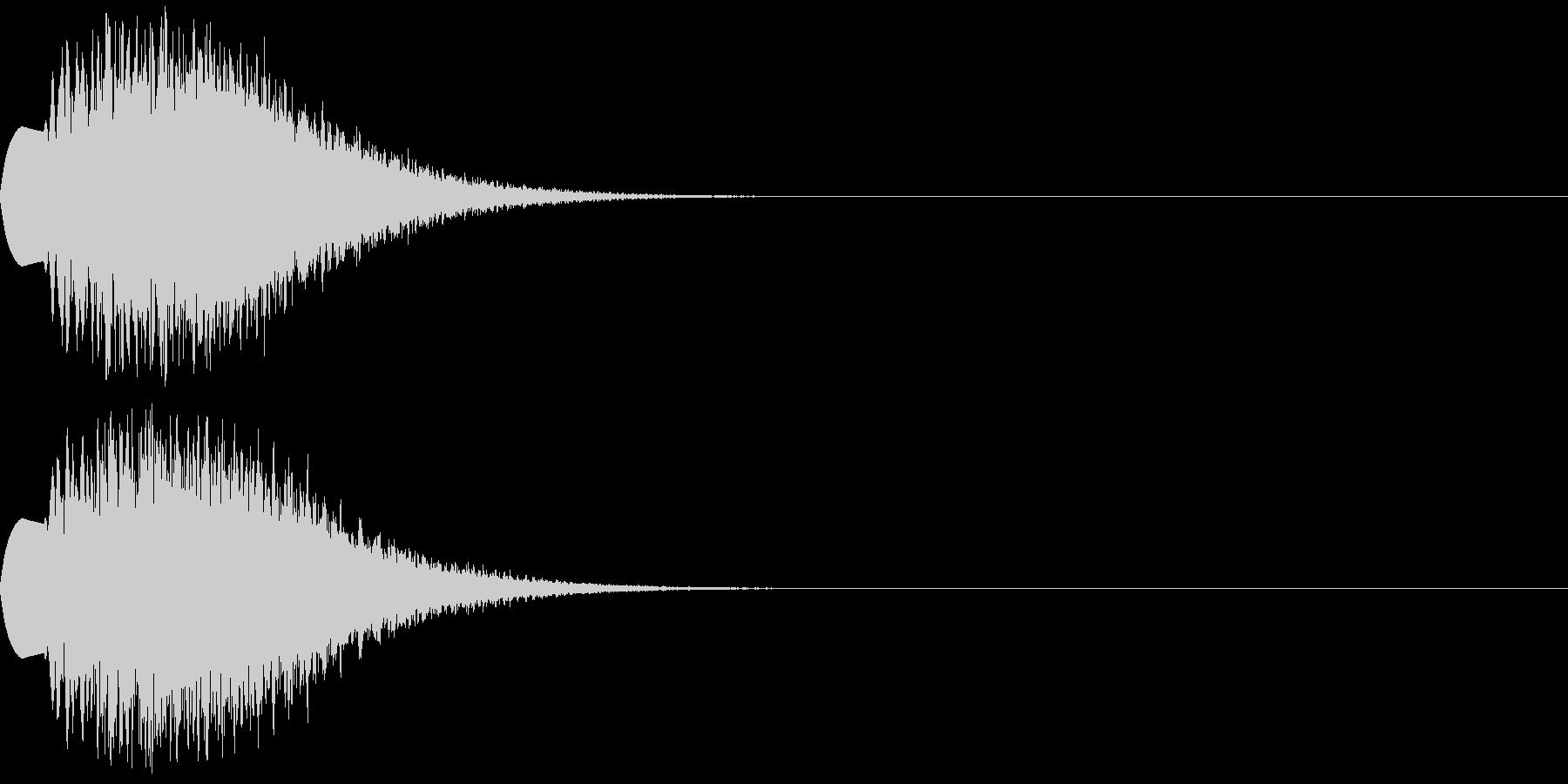ティロロロロンの未再生の波形