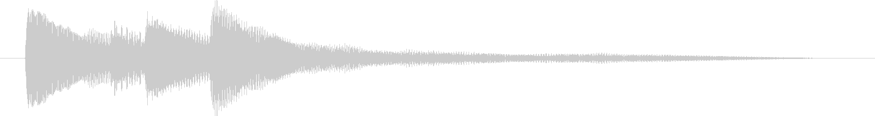 ピアノだけのシンプルで綺麗なジングル3の未再生の波形