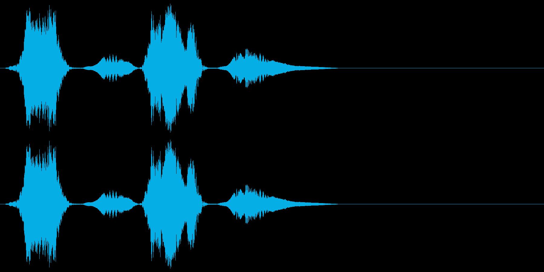 ピヨピヨ(感情:怒る_プンプン)の再生済みの波形