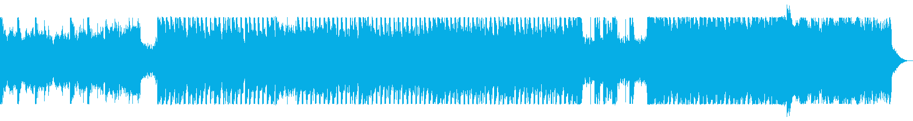 アナログシンセのハード・デジタルロックの再生済みの波形