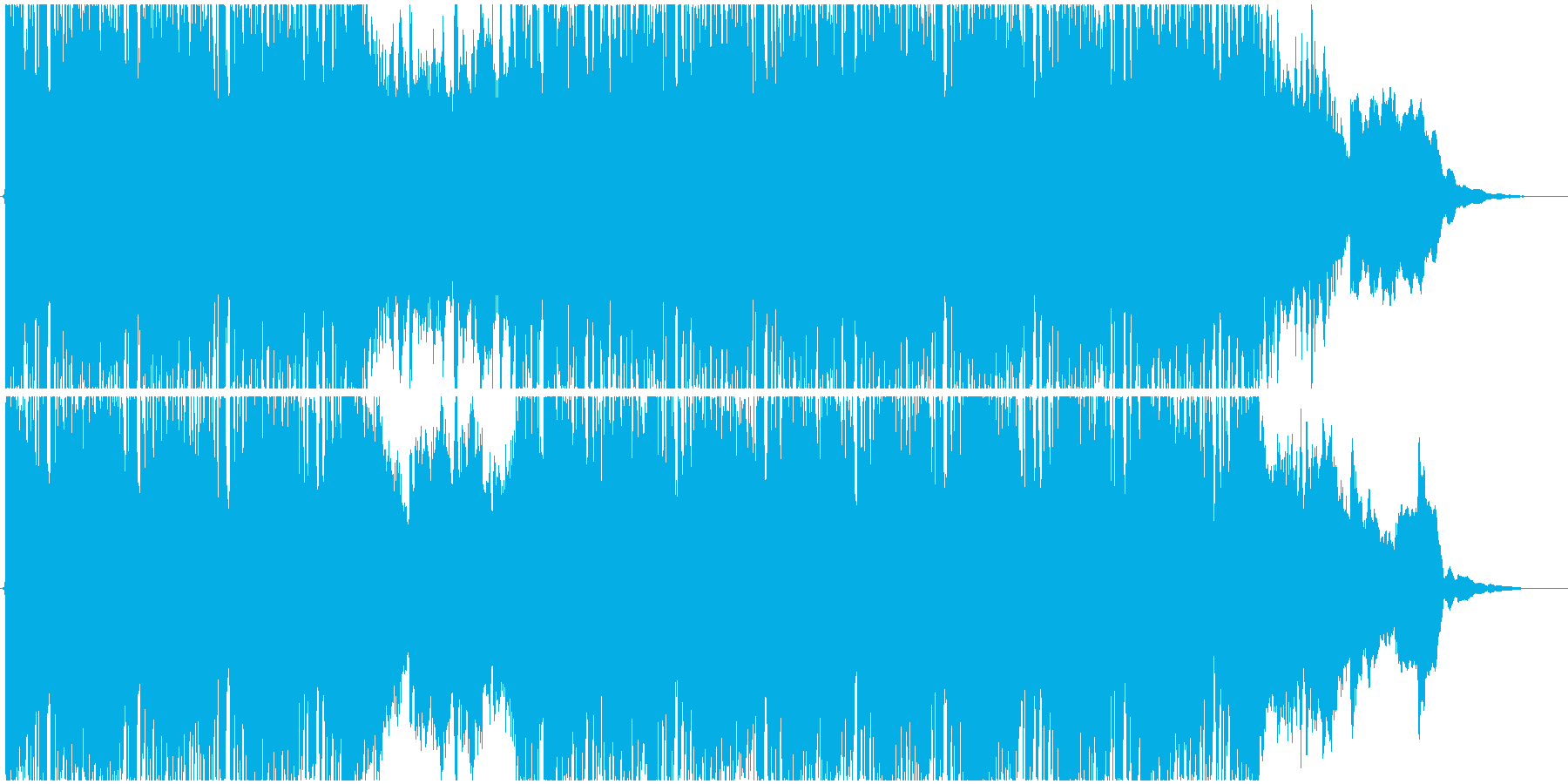バンドサウンド・雨の日を軽快に歩くBGMの再生済みの波形