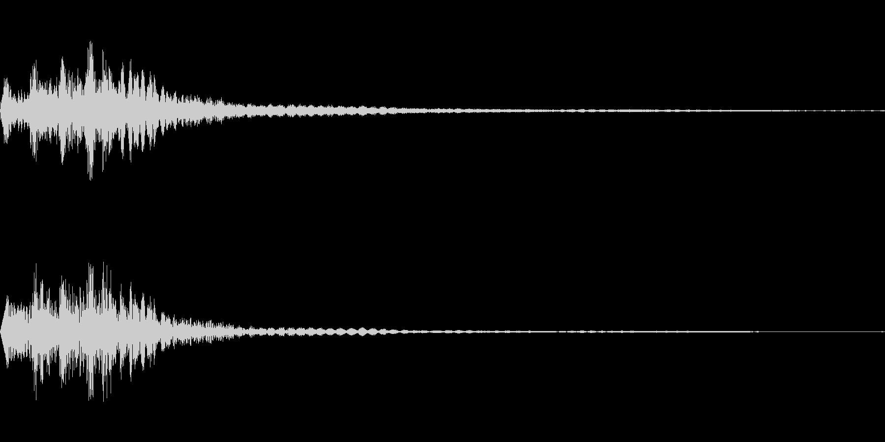 [ティロロン]メニュー閉じ(柔かい)の未再生の波形