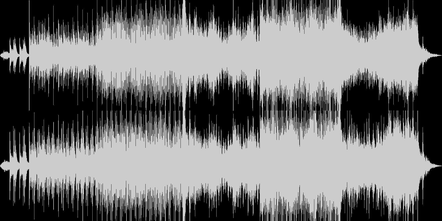 ドローン等による空撮映像をイメージした曲の未再生の波形