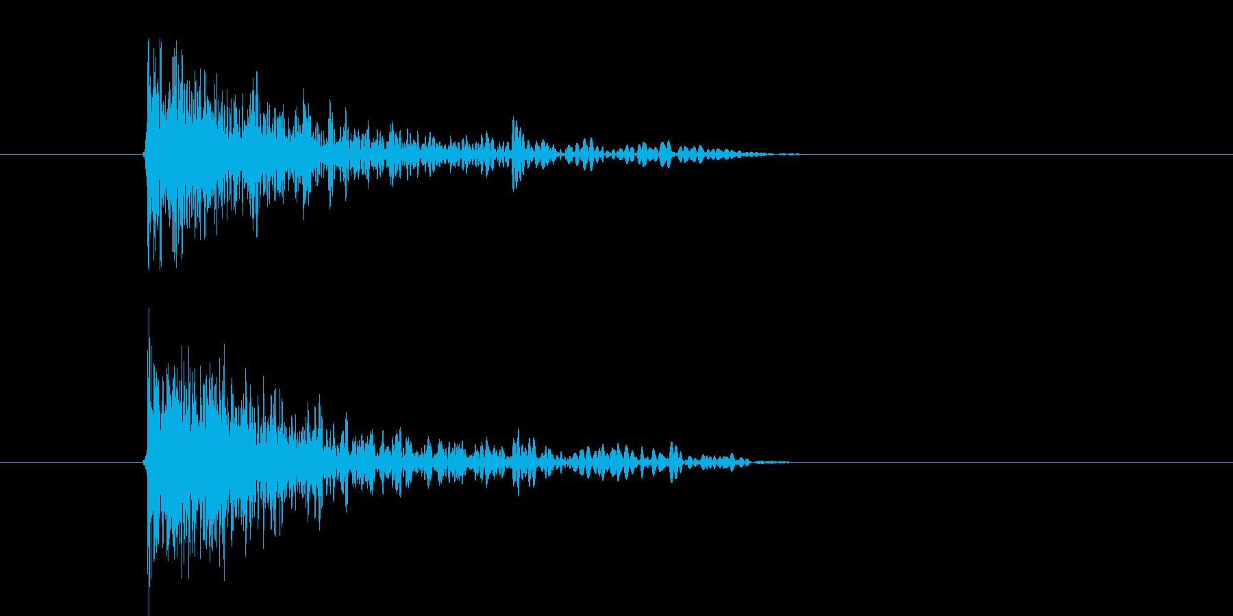 バシューン(ピストル、銃、撃つ)の再生済みの波形