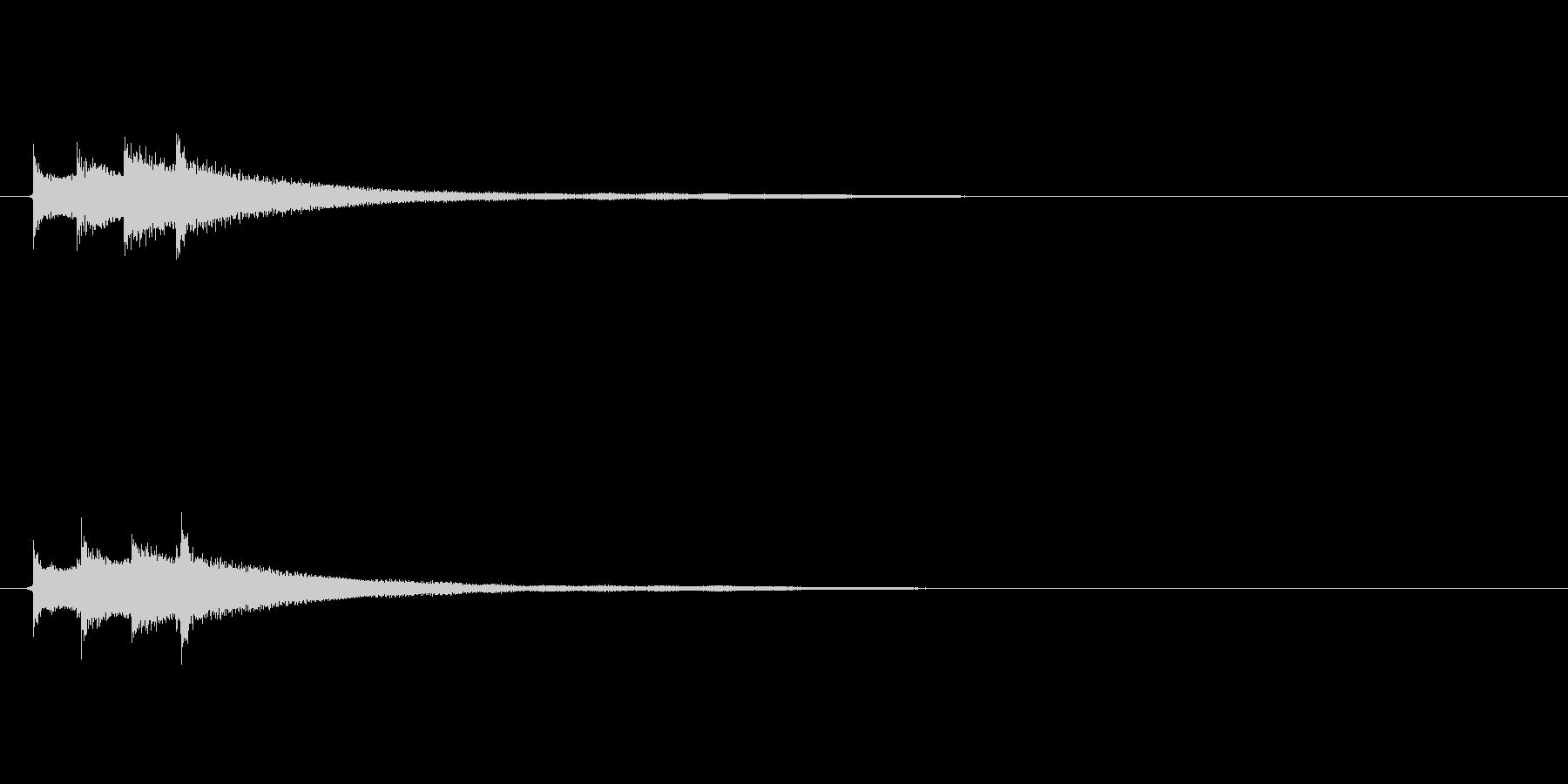 アコギによる爽やかなサウンドロゴの未再生の波形