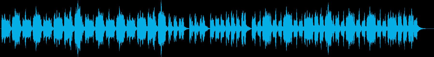 ほのぼのしてのんびりとした曲の再生済みの波形