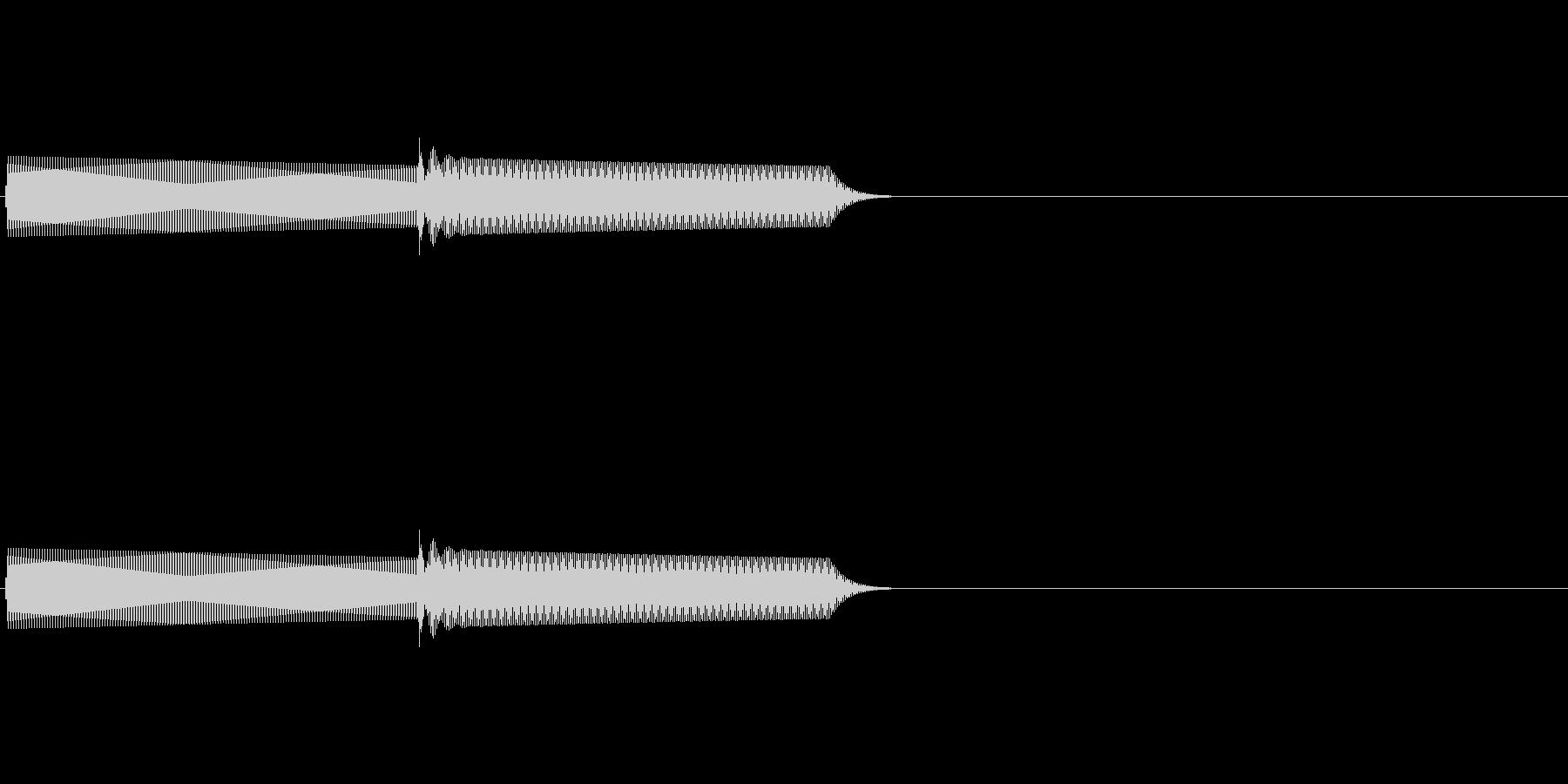ピコンと鳴る電子音の未再生の波形