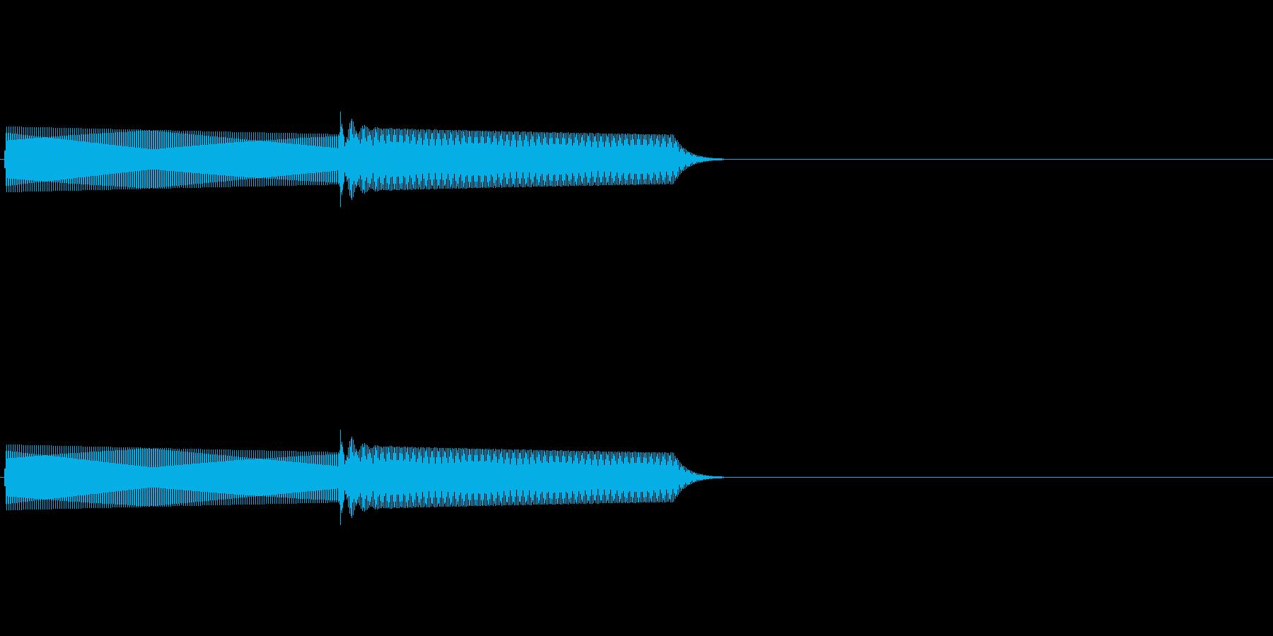 ピコンと鳴る電子音の再生済みの波形