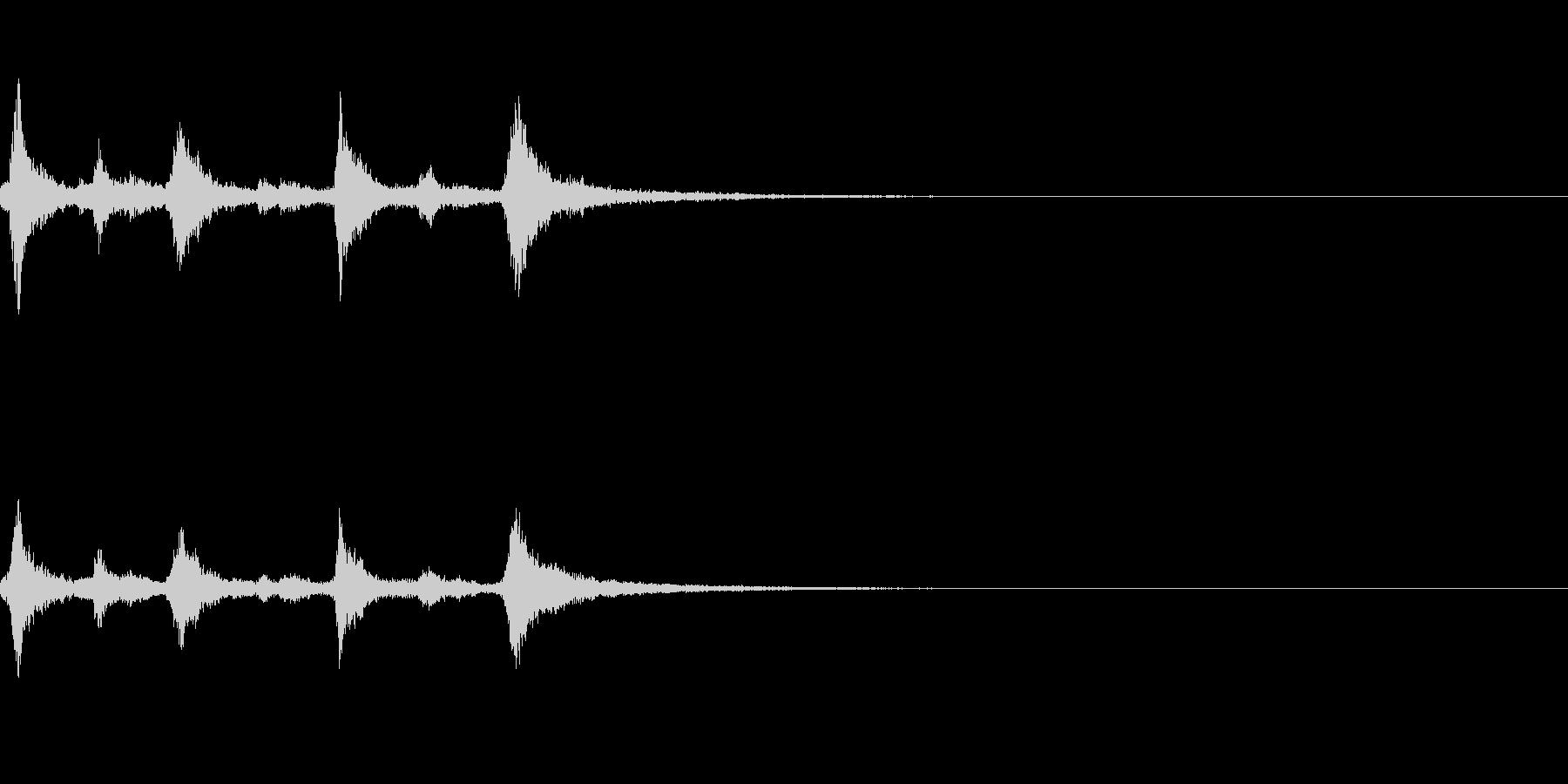 クリスマスのベル、鈴の効果音 ロゴ08の未再生の波形