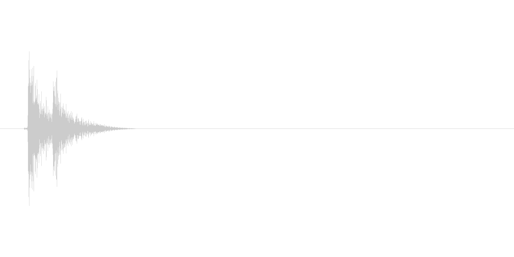 ピコッ(テロップ、テレビ、バラエティー)の未再生の波形
