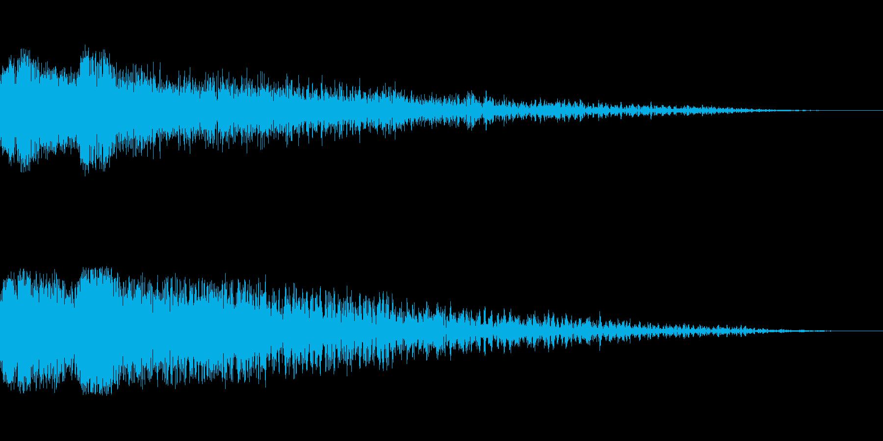 強めのカットインや必殺ゲージが溜まる音の再生済みの波形