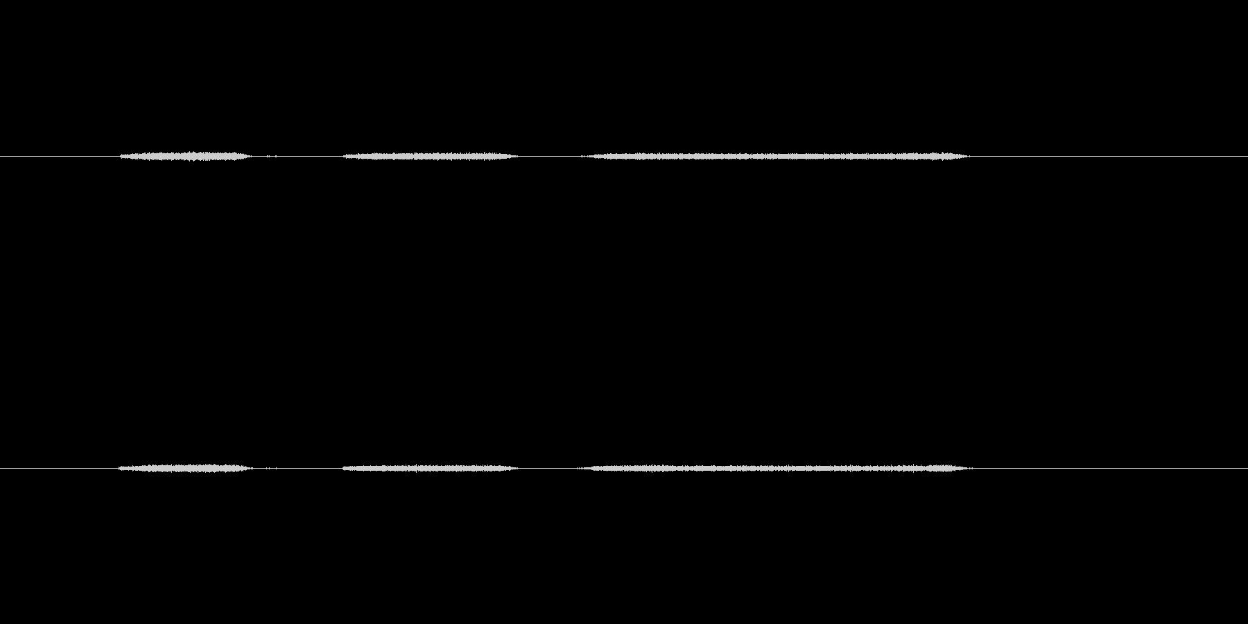 【生音】息・吹きかける - 2 「ふー…の未再生の波形