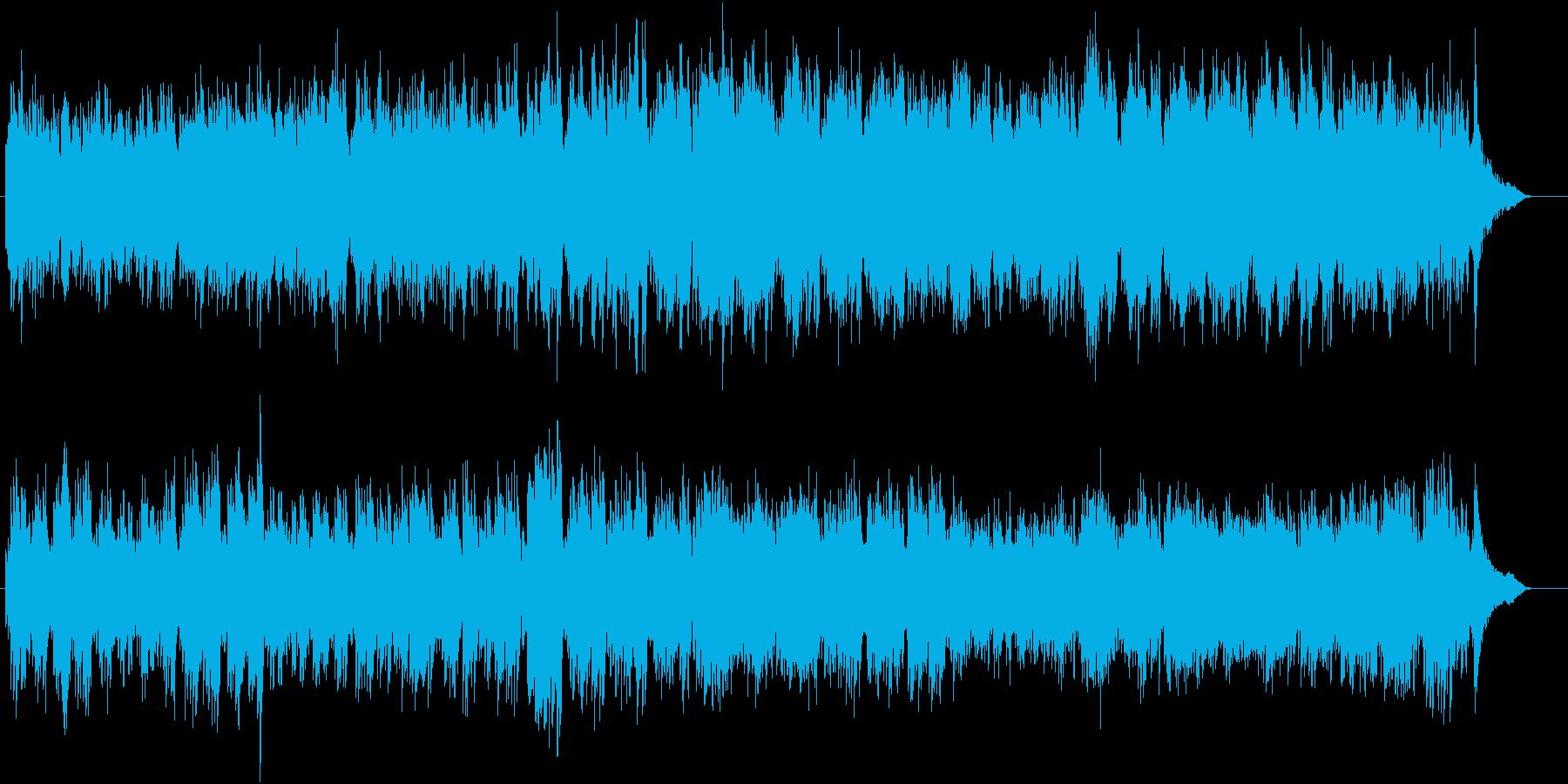 アベマリアをピアノとシンセボイスでの再生済みの波形