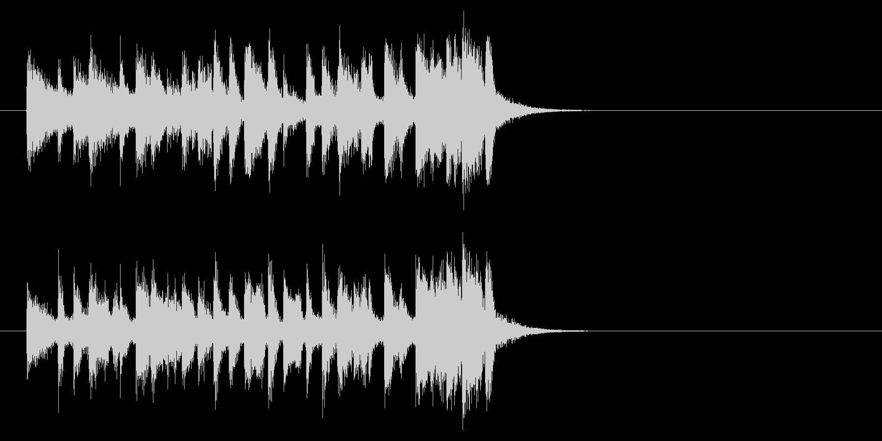 コーナー・タイトル風フュージョンの曲の未再生の波形