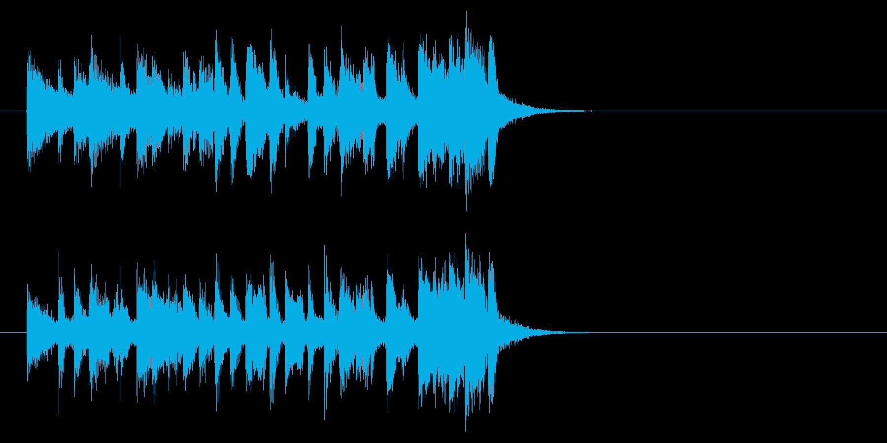 コーナー・タイトル風フュージョンの曲の再生済みの波形