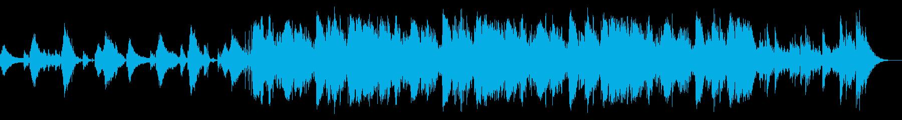 破壊的でダークなアンビエントな電子音楽の再生済みの波形