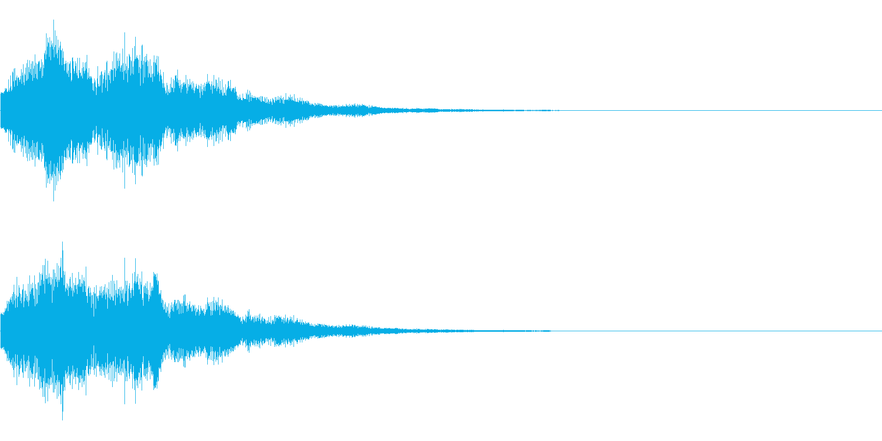 ピローン(決定音、ゲーム、アプリに)の再生済みの波形