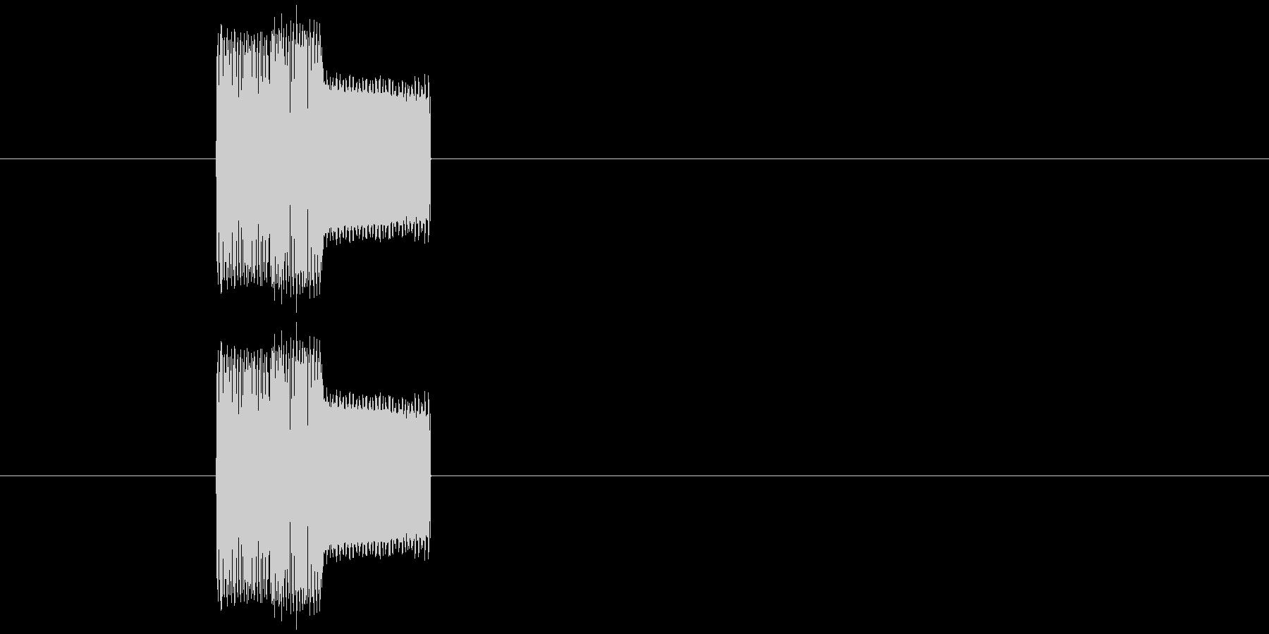 チープなゲームのプッシュ音2の未再生の波形