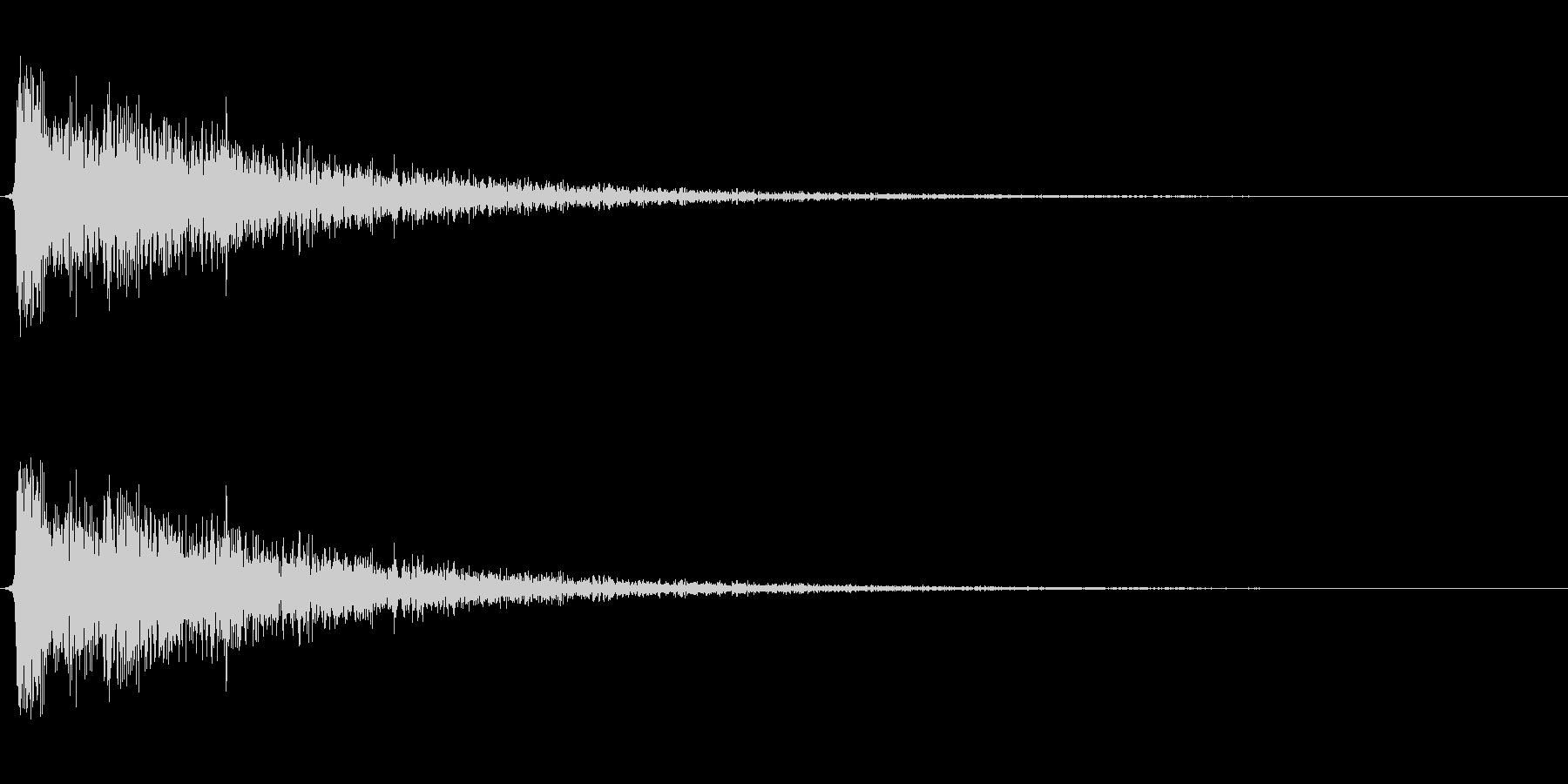 【衝撃04-2】の未再生の波形