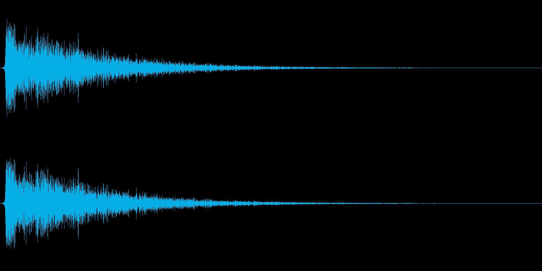 【衝撃04-2】の再生済みの波形